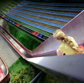 Child on Avalanche Slide