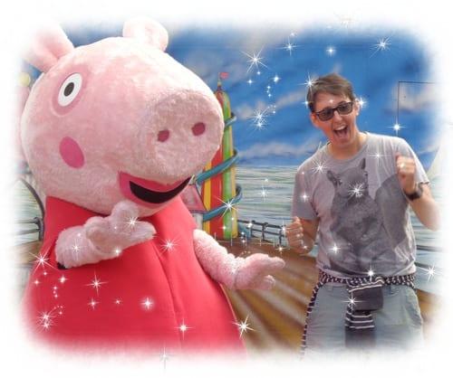 Devon Theme Park Peppa Pig and Guest having fun 2015