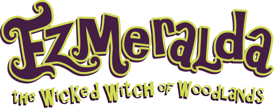 Ezmeralda logo - the wicked witch of woodlands is back for our Halloween event in Devon