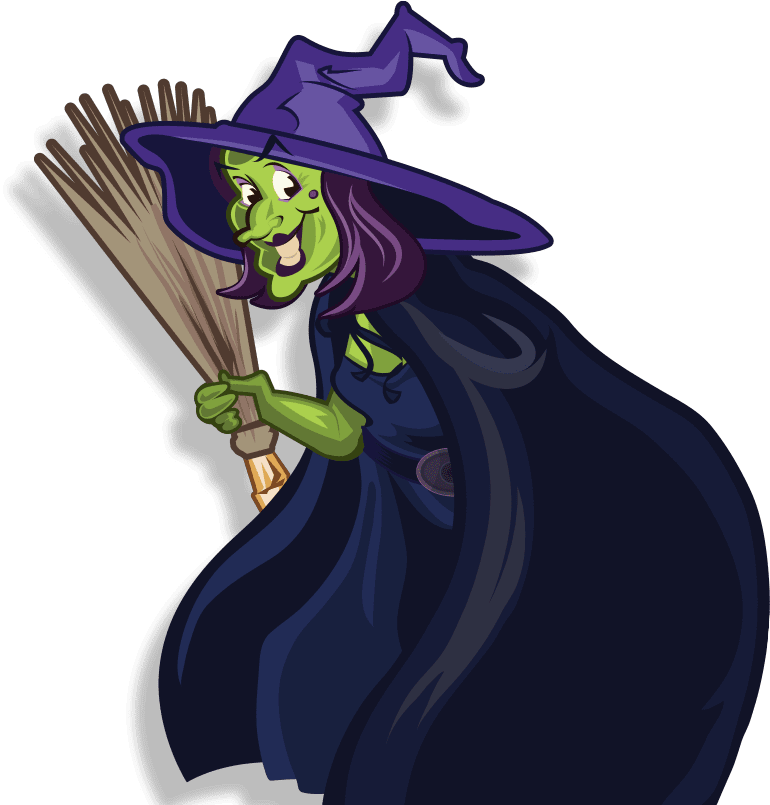 Ezmeralda illustration - the wicked witch of woodlands is back for our Halloween event in Devon