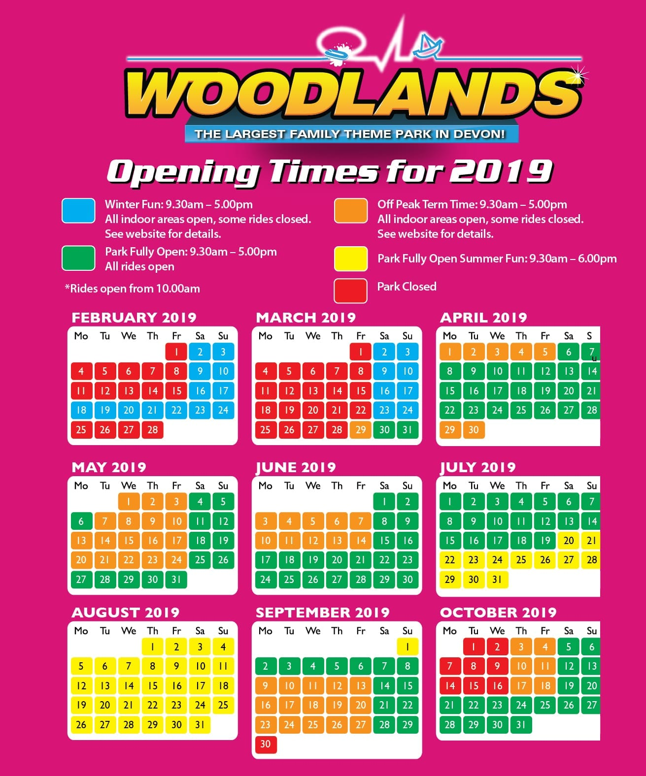 Woodlands opening times
